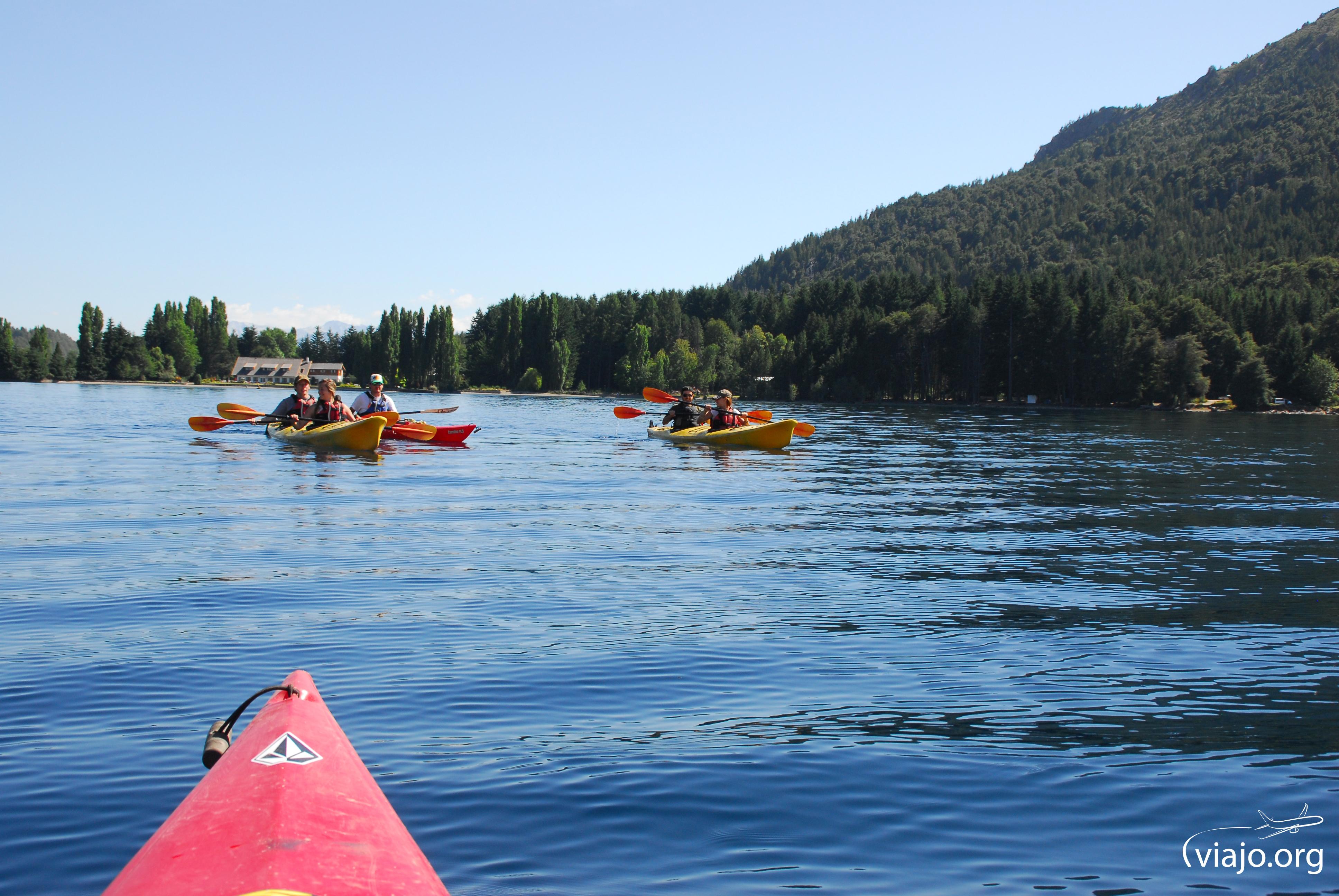 Kayak en Lago Gutierrez, Bariloche