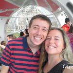 Disfrutando desde el London Eye