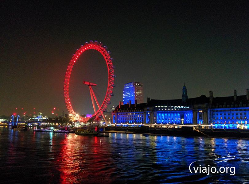 El London Eye de noche