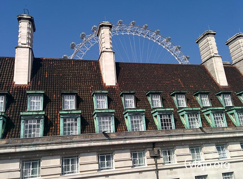 Vista desde el departamento en Londres