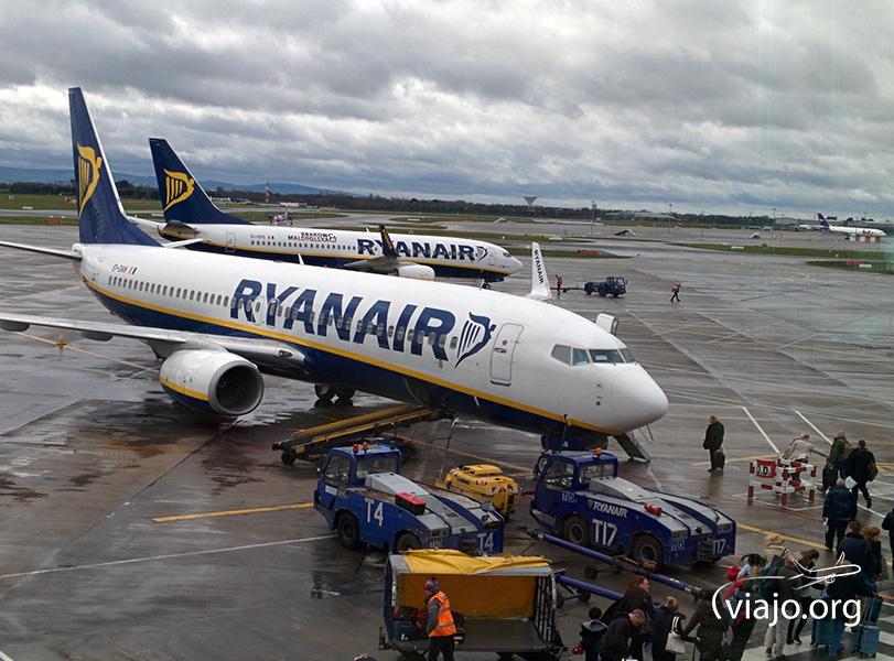 Ryanair en el aeropuerto de Dublin