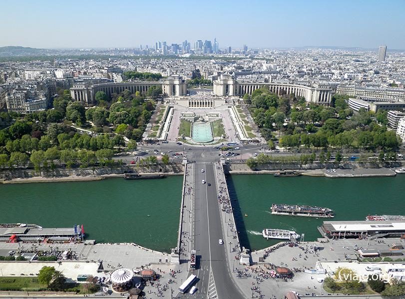 Torre Eiffel - Vista de Jardines del Trocadero