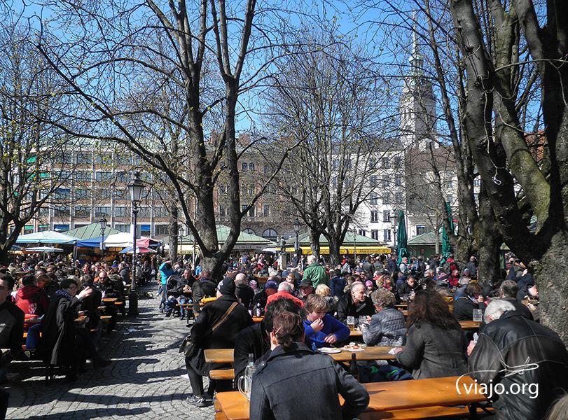 Munich - Biergärten en Viktualienmarkt
