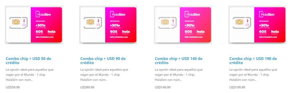 Planes HolaSim - Combo Chip + Crédito