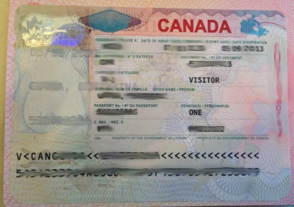 Visa de Canadá en Pasaporte