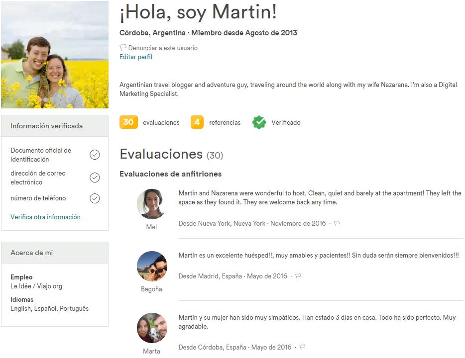 Airbnb - Perfil Verificado