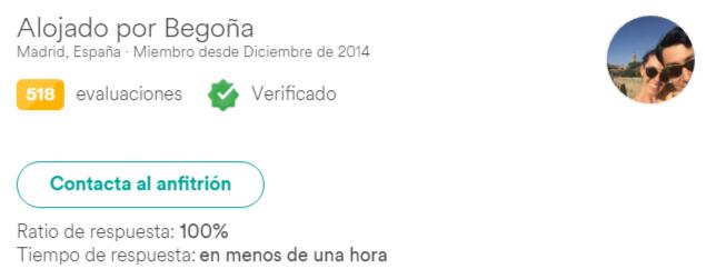Anfitrión verificado en Airbnb