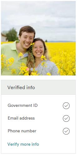 Perfil verificado - Airbnb